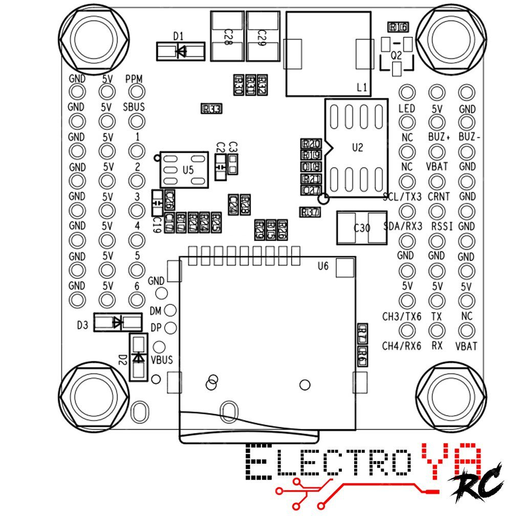 Airbot F4 Dual Flight Controller Electroya Rc Racing Drones Naze32 Rev6 Wiring Diagram